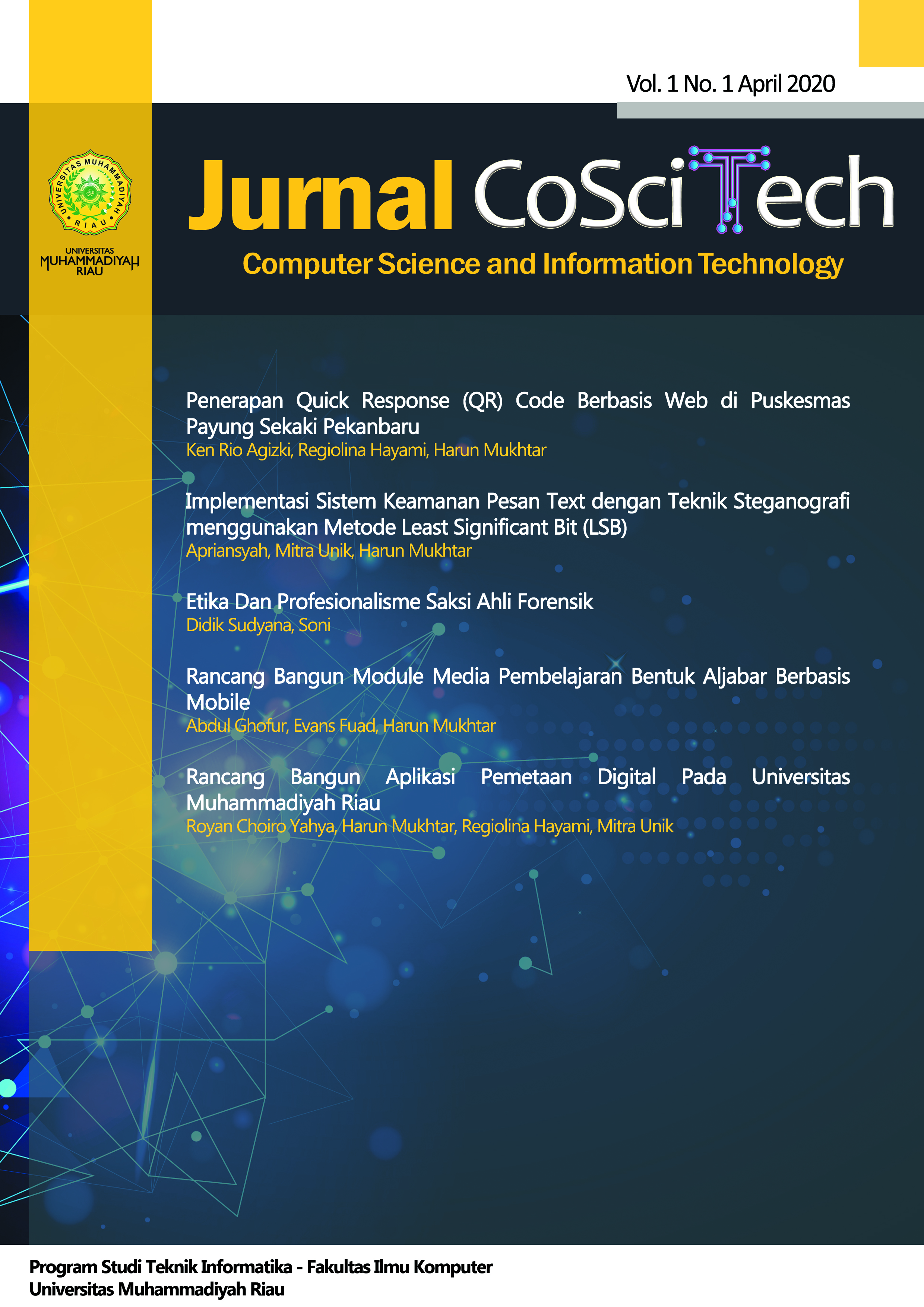 Jurnal Computer Science and Information Technology (CoSciTech)